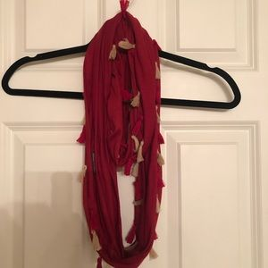 Other - Red and Gold Infinity Scarf